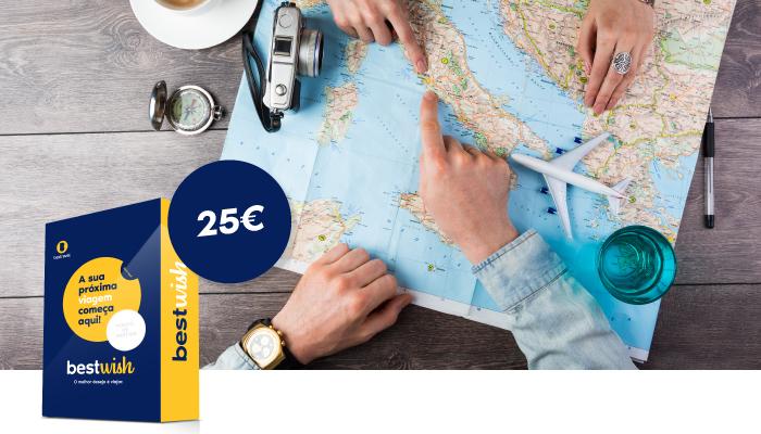 Cheque viagem - 25€ - Cheque viagem - 25€ - desde 25.00 €