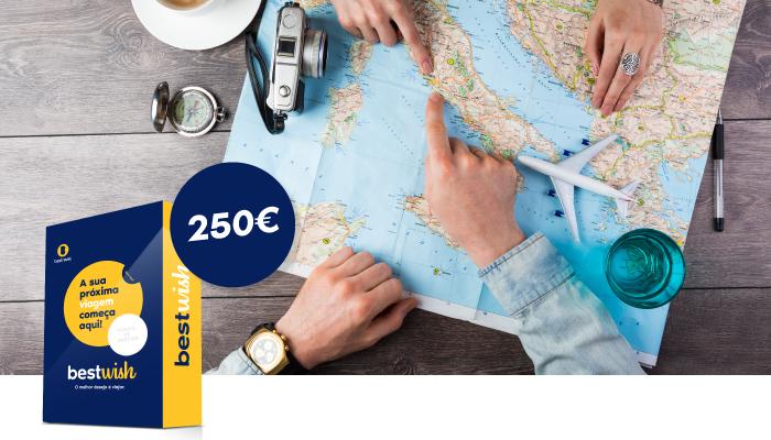 Cheque viagem - 250€ - cheque viagem - desde 250.00 €